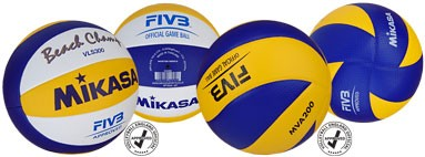 Mikasa Volleyballs, Beach, Indoor, Recriational, Beginner + Ball Accessories
