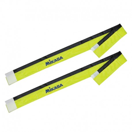 MIKASA VELCRO SHEATHS YELLOW BLACK (PAIR)