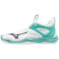 Mizuno Wave Mirage 3 (Women)  White Turquoise