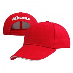 Mikasa Cotton Cap (Rear Logo) Red