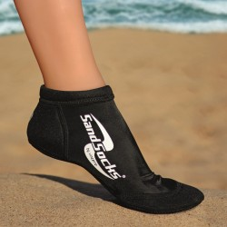 SPRITES SAND SOCK PAIR - BLACK